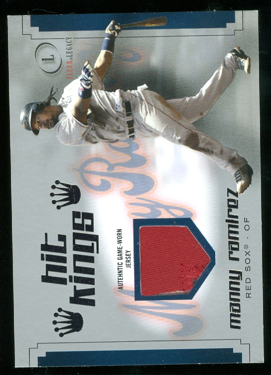 2004 Fleer Legacy Hit Kings Patch Silver #MR Manny Ramirez