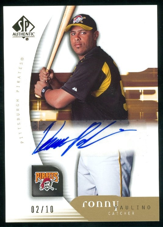 2005 SP Authentic Gold #163 Ronny Paulino AU