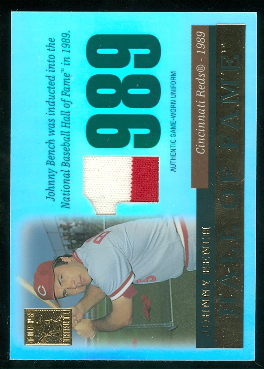 2004 Topps Tribute HOF Relics #JB2 J.Bench w/o Glv Uni G