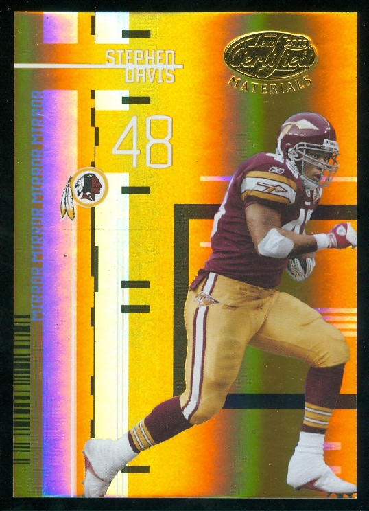 2005 Leaf Certified Materials Mirror Gold #150 Stephen Davis
