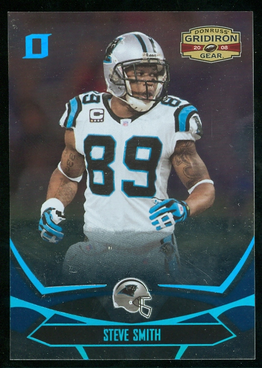2008 Donruss Gridiron Gear Platinum Holofoil O's #14 Steve Smith