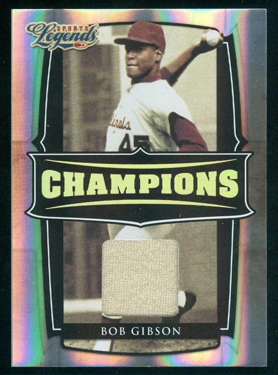 2008 Donruss Sports Legends Champions Materials #6 Bob Gibson Jsy/10