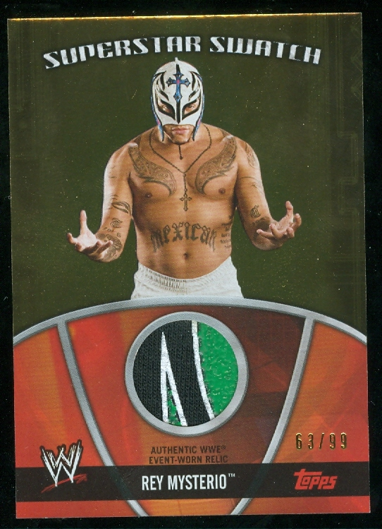 2010 Topps WWE Superstar Swatches Gold #SSSRM Rey Mysterio