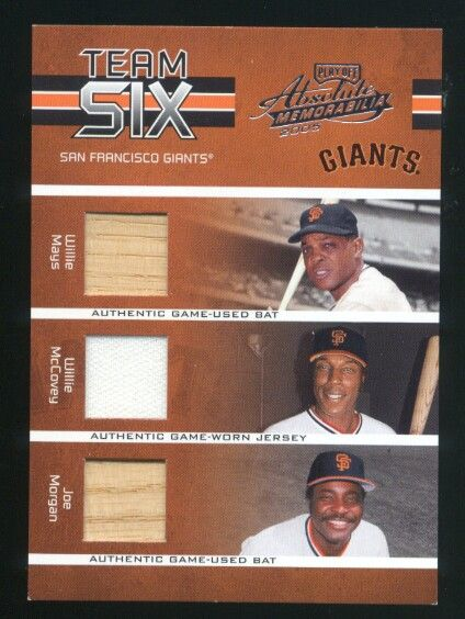 2005 Absolute Memorabilia Team Six Swatch Single #52 San Francisco Giants/150
