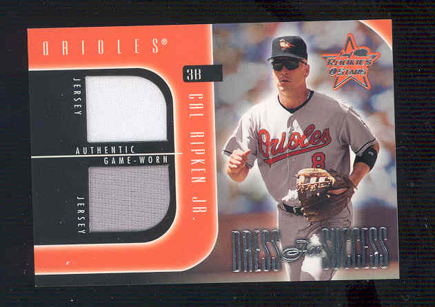2002 Leaf Rookies and Stars Dress for Success #2 Cal Ripken Jsy-Jsy
