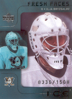 2001-02 Upper Deck Ice #43 Ilja Bryzgalov RC