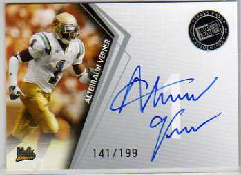 2010 Press Pass Autographs Silver #PPSAV Alterraun Verner/199
