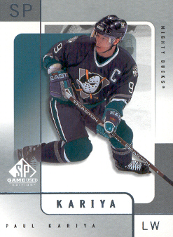 2000-01 SP Game Used #1 Paul Kariya
