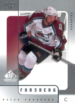 2000-01 SP Game Used #15 Peter Forsberg