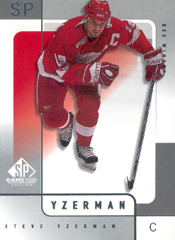 2000-01 SP Game Used #21 Steve Yzerman
