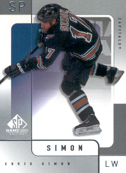 2000-01 SP Game Used #60 Chris Simon
