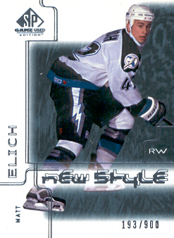 2000-01 SP Game Used #82 Matt Elich RC