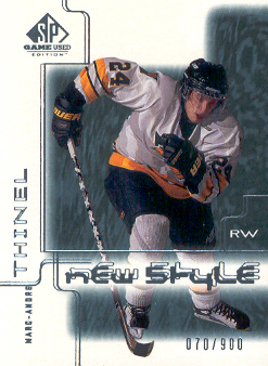 2000-01 SP Game Used #85 Marc-Andre Thinel RC
