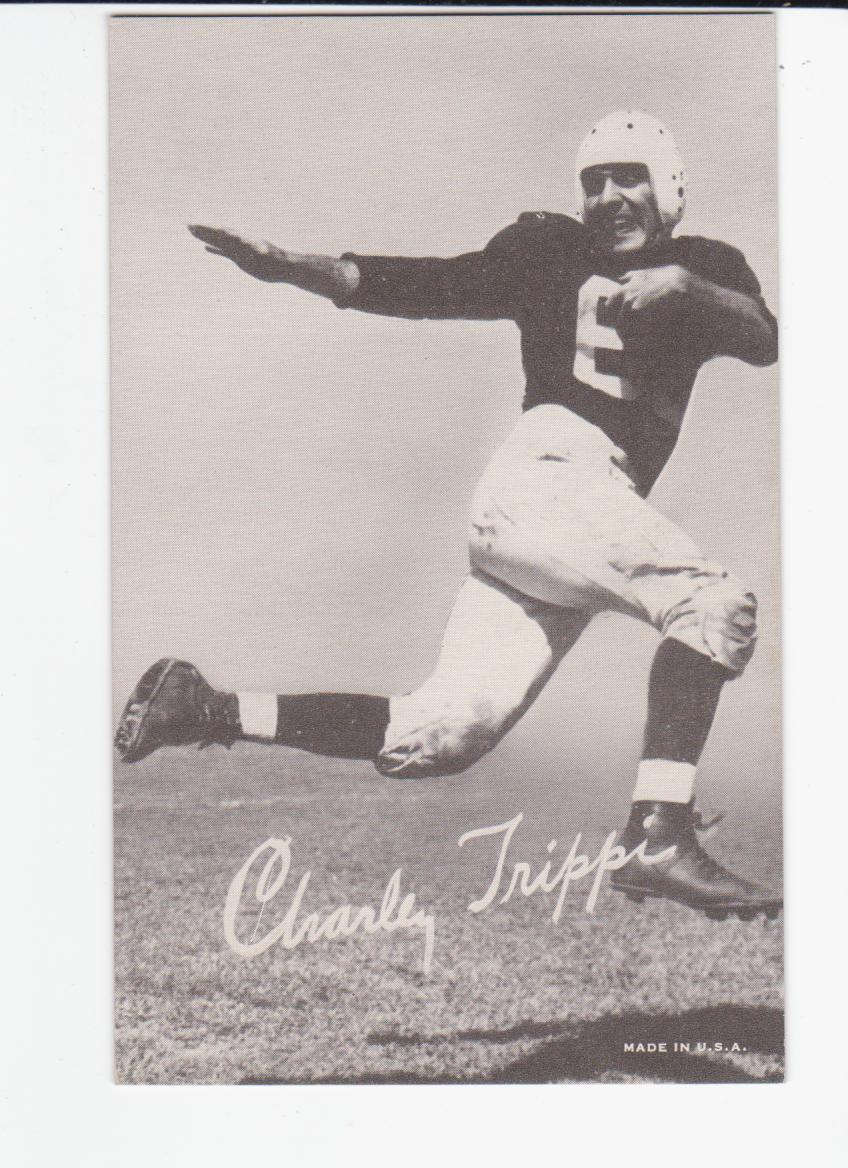 1948-52 Exhibit W468 Black and White #50 Charley Trippi DP