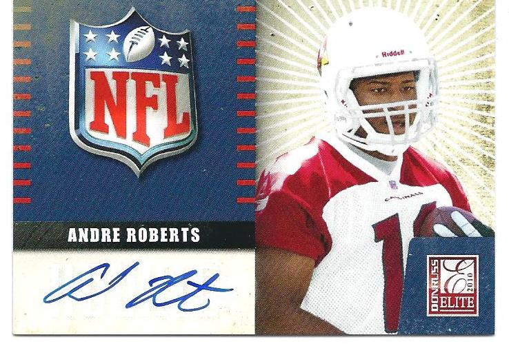 2010 Donruss Elite Rookie NFL Shield Autographs #1 Andre Roberts