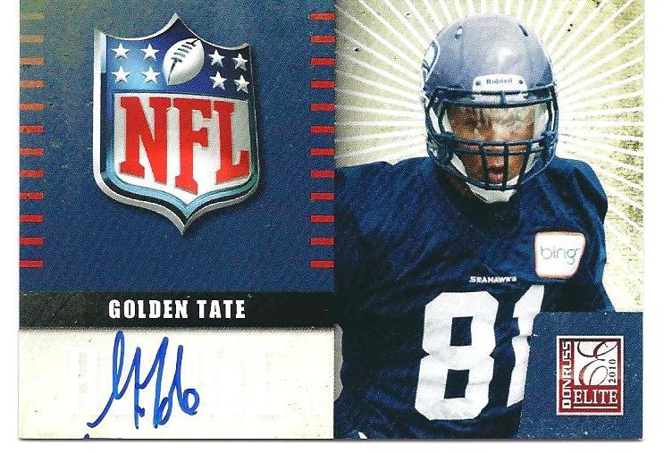 2010 Donruss Elite Rookie NFL Shield Autographs #16 Golden Tate
