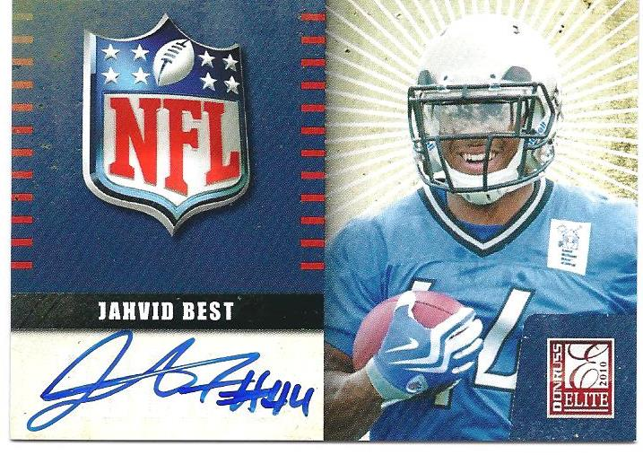 2010 Donruss Elite Rookie NFL Shield Autographs #17 Jahvid Best
