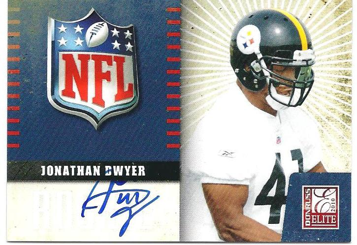 2010 Donruss Elite Rookie NFL Shield Autographs #21 Jonathan Dwyer