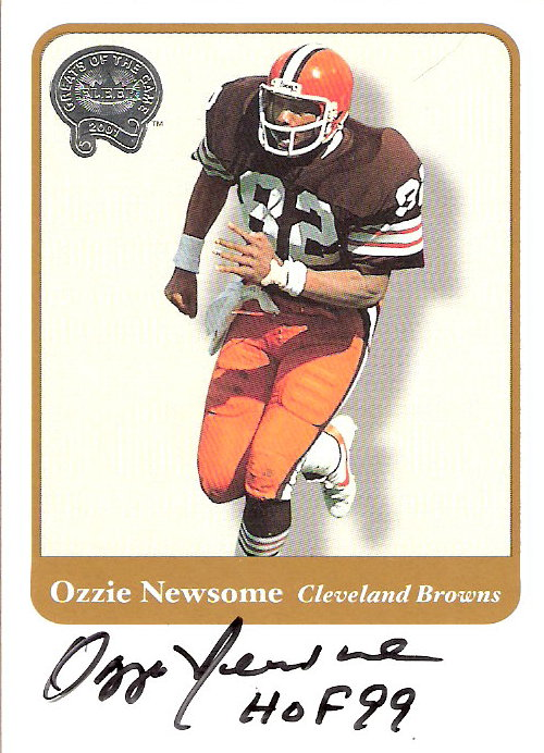 2002 Fleer Throwbacks Greats of the Game Autographs #23 Ozzie Newsome
