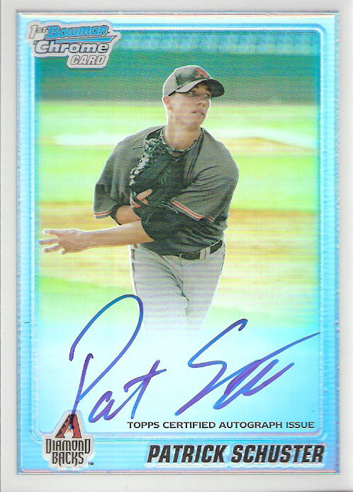 2010 Bowman Chrome Prospects Refractors #BCP97B Patrick Schuster AU
