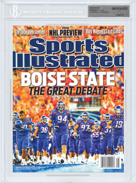SPORTS ILLUSTRATED BGS SI Uncirculated BOISE STATE BRONCOS front image