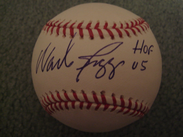 Wade Boggs Autographed Official MLB Baseball with MLB COA Hologram