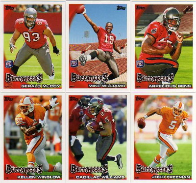 2010 Topps Football Tampa Bay Buccaneers 11 Card Team Set with RC's - Benn / McCoy / Williams