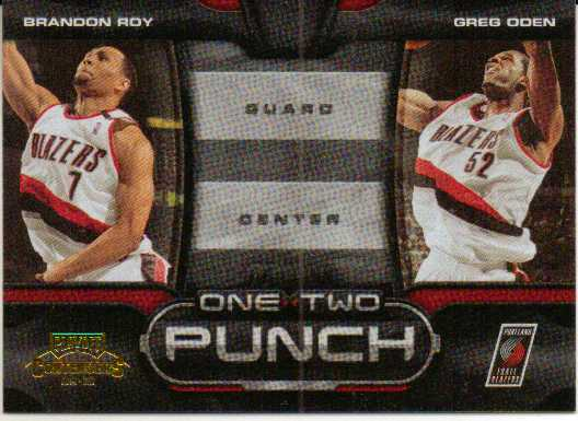 2009-10 Playoff Contenders One-Two Punch Gold #1 Brandon Roy/Greg Oden