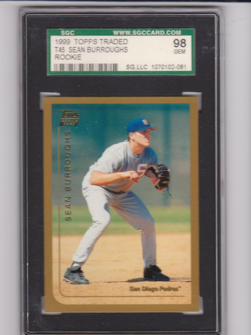 1999 Topps Traded #T40 Sean Burroughs RC