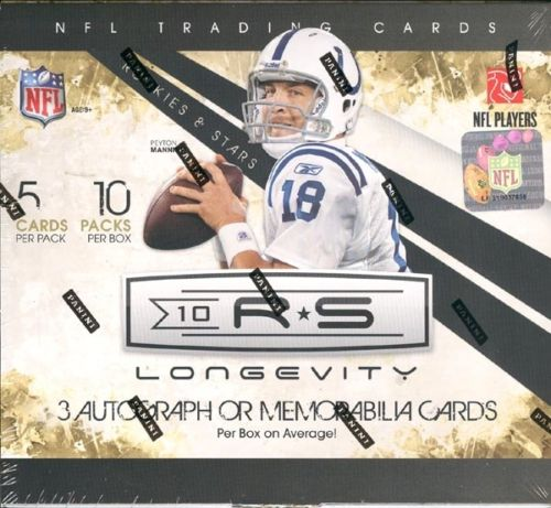 2010 Panini Rookies & Stars Longevity Hobby Football Unopened Box (10 Packs)