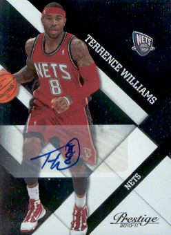 2010-11 Prestige Prestigious Pros Signatures Black #5 Terrence Williams/49