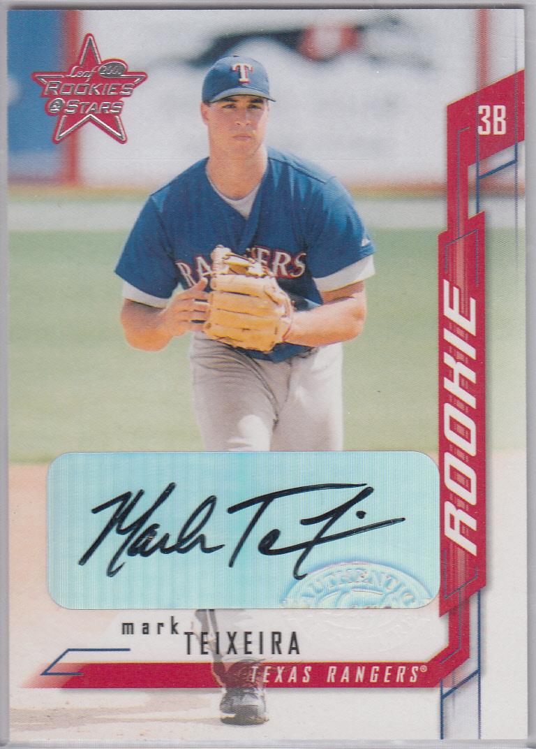 2001 Leaf Rookies and Stars Autographs #221 Mark Teixeira/100 *