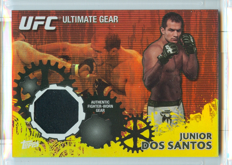2010 Topps UFC Ultimate Gear Gold #UGJDS Junior dos Santos
