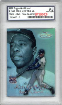 1999 Topps Gold Label Race to Aaron Black #RA7 Ken Griffey Jr.