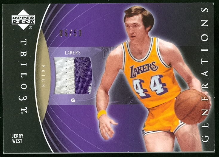 2006-07 Upper Deck Trilogy Generations Past Patches #PMWE Jerry West