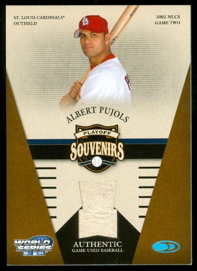 2004 Donruss World Series Souvenirs Playoff #3 Albert Pujols Ball