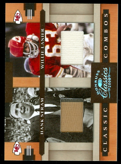 2008 Donruss Classics Classic Combos Jerseys #1 Hank Stram/Willie Lanier