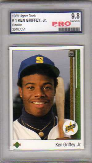1989 Upper Deck #1 Ken Griffey Jr. RC Graded Pro N-Gem 9.8