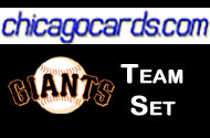 2010 Topps Chrome San Francisco Giants 4-Card Team Set Sanchez