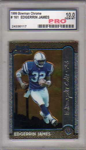 1999 Bowman Chrome Interstate #161 Edgerrin James