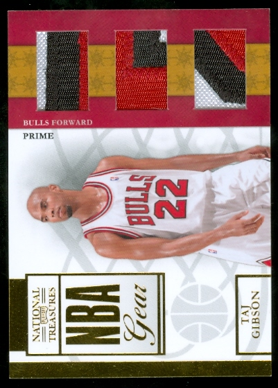 2009-10 Playoff National Treasures NBA Gear Trios Prime #23 Taj Gibson/49