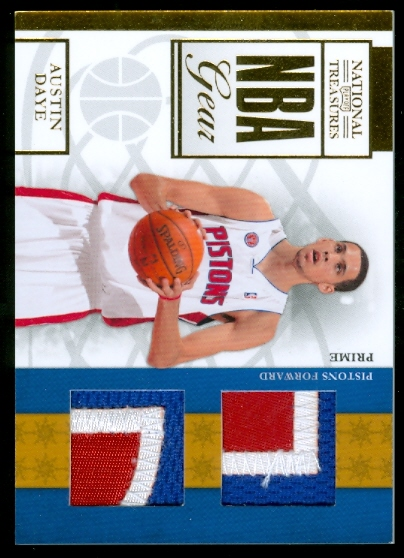 2009-10 Playoff National Treasures NBA Gear Dual Prime #22 Austin Daye/49