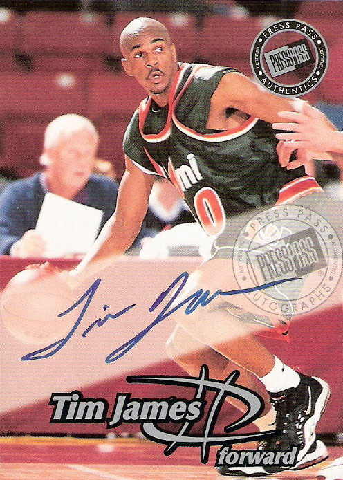 1999 Press Pass Authentics Autographs #16 Tim James