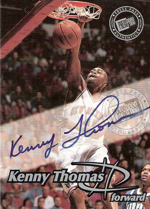 1999 Press Pass Autographs #16 Kenny Thomas