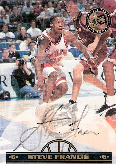 1999 Press Pass Authentics Autographs Gold #2 Steve Francis