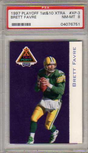 1997 Playoff First and Ten Xtra Point #XP3 Brett Favre