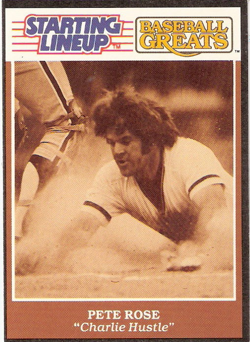 1989 Kenner Starting Lineup Greats Cards #15 Pete Rose