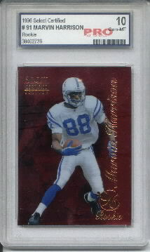 1996 Select Certified Red #91 Marvin Harrison