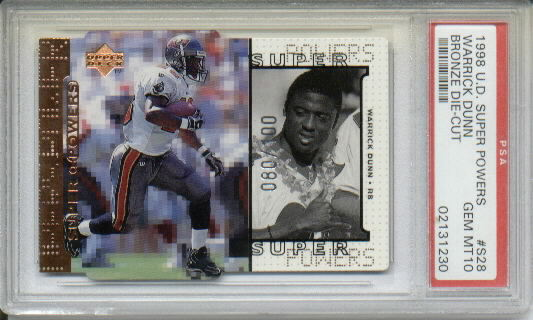 1998 Upper Deck Super Powers Die Cut Bronze #S28 Warrick Dunn