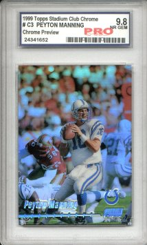 1999 Stadium Club Chrome Previews Refractors #C3 Peyton Manning